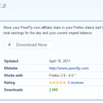 PeerFly Stats 1.2 released and works with Firefox 4!
