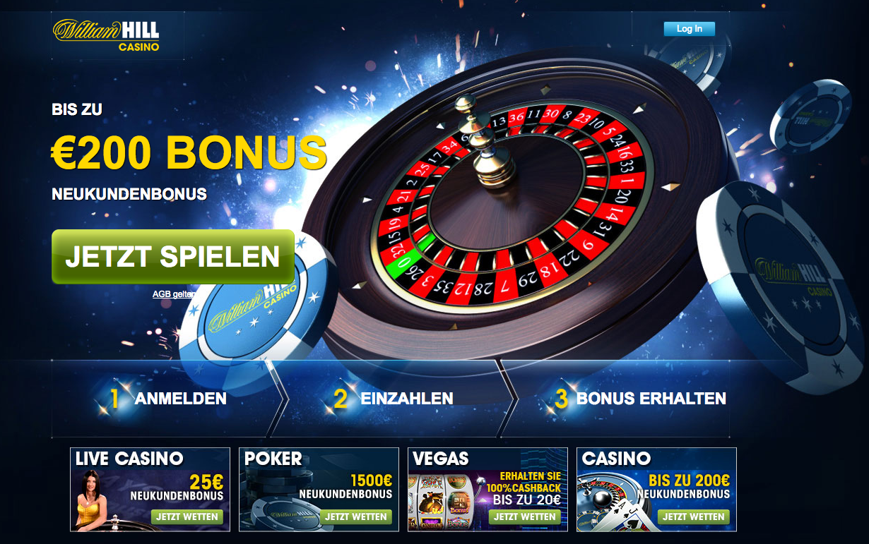 William Hill Casino's Landing Page