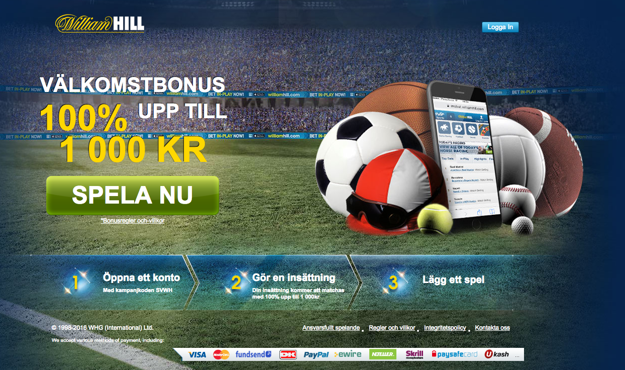 William Hill Sport's Landing Page